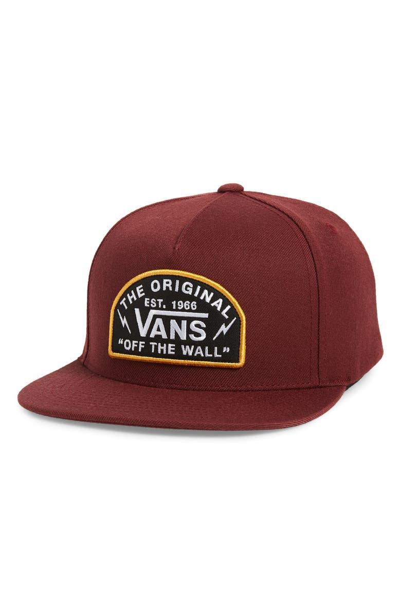 VANS Bolt Action Snapback Baseball Cap, Main, color, PORT ROYALE