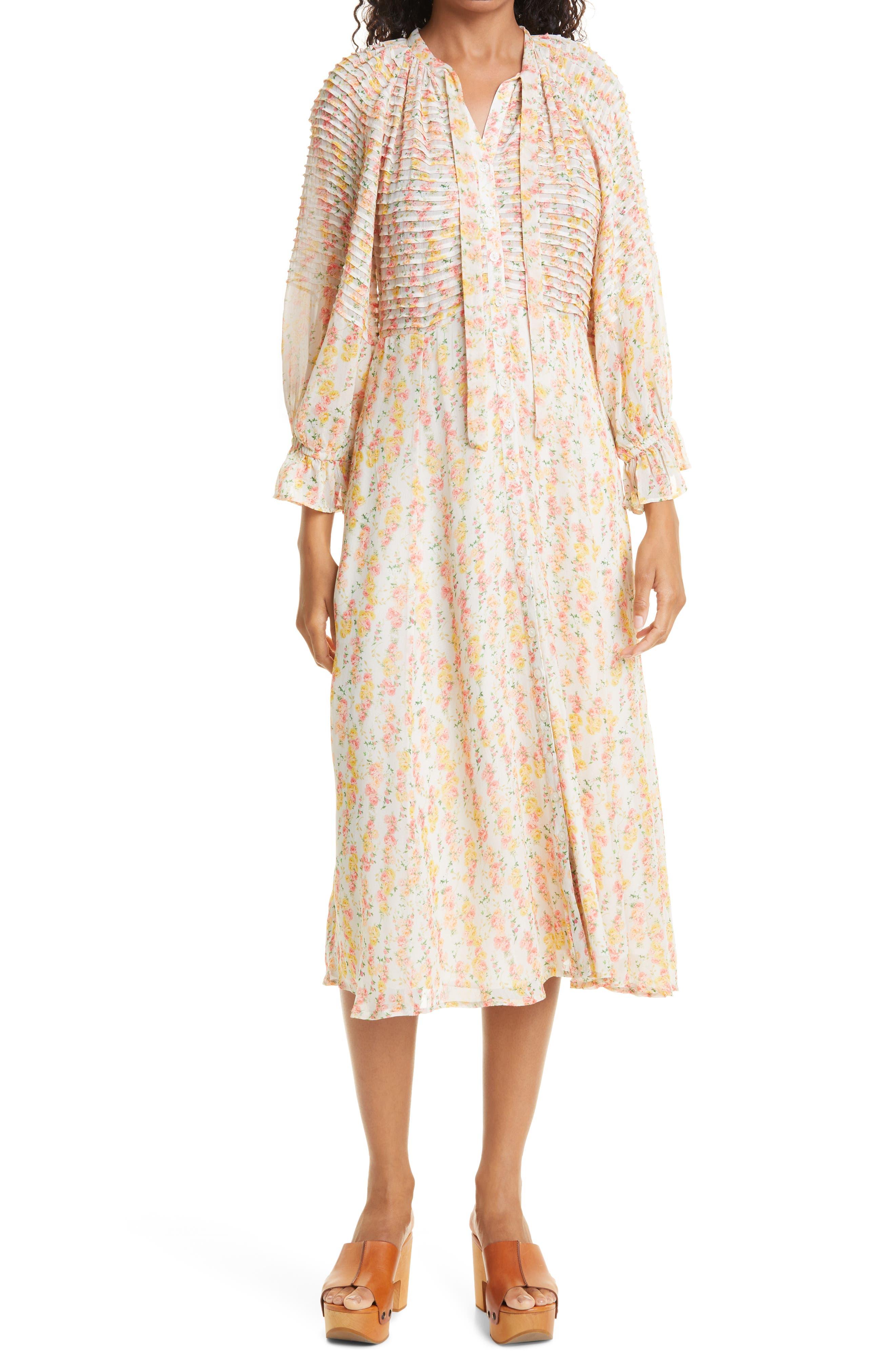 Daydream Floral Long Sleeve Midi Dress