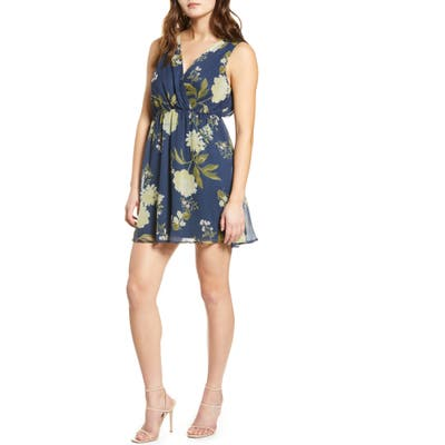 Vero Moda Lucca Floral Print Sleeveless Dress, Blue