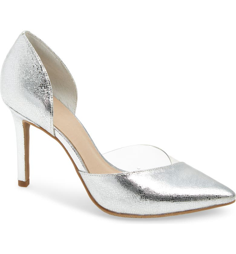 BP. Josey d'Orsay Pump, Main, color, SILVER FAUX LEATHER