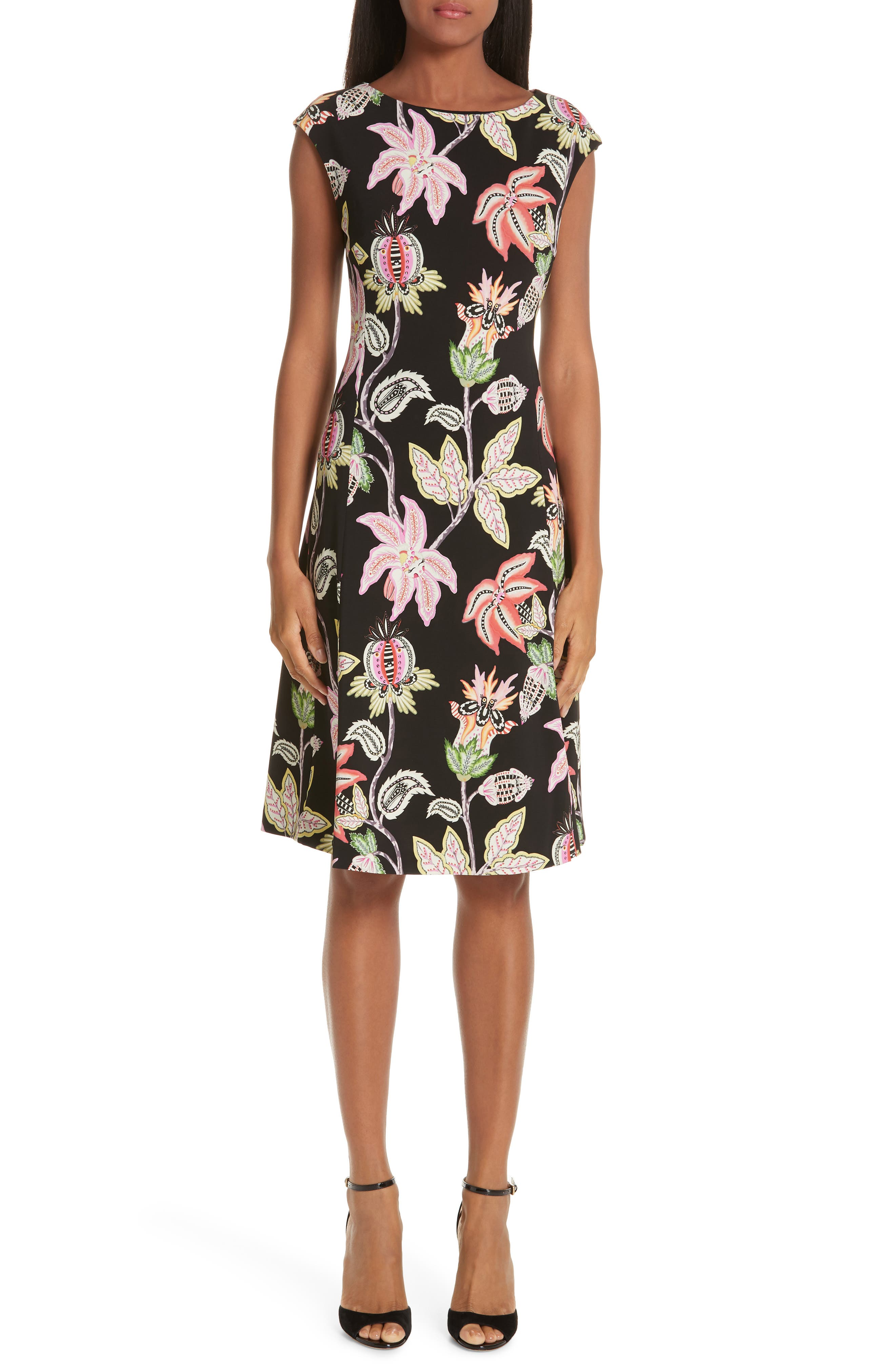 Etro Floral Print Jersey Dress