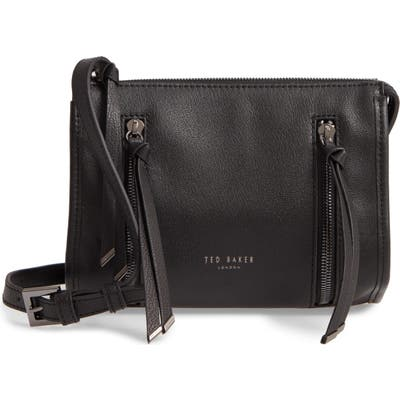 Ted Baker London Henneyy Leather Shoulder Bag - Black