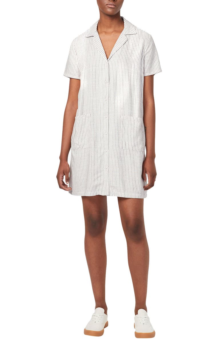 FRENCH CONNECTION Laiche Stripe Shirtdress, Main, color, 112