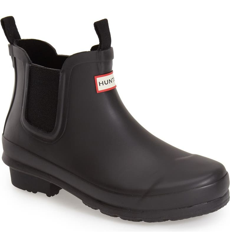 HUNTER Original Chelsea Rain Boot, Main, color, BLACK