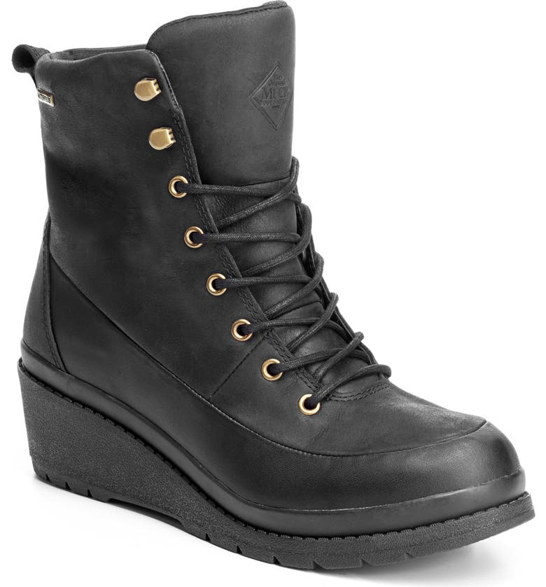 THE ORIGINAL MUCK BOOT COMPANY Liberty Waterproof Wedge Boot, Main, color, BLACK