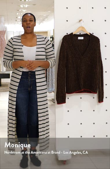 Oversize V-Neck Sweater, sales video thumbnail