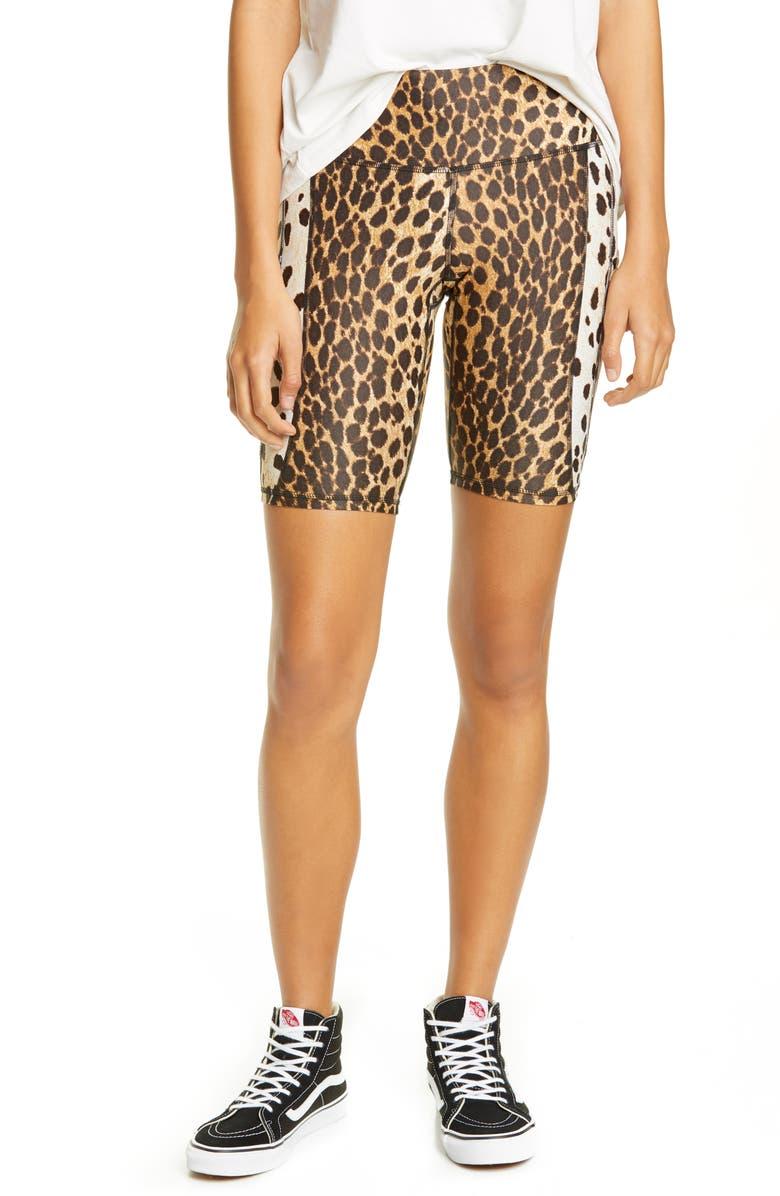 R13 Cheetah Print Bike Shorts, Main, color, CHEETAH PRINT