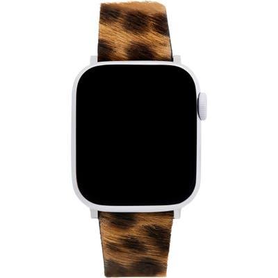 Rebecca Minkoff Genuine Calf Hair Apple Watch Strap
