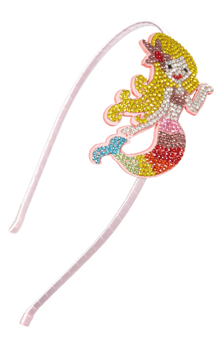 BARI LYNN Crystal Mermaid Headband, Main, color, 960