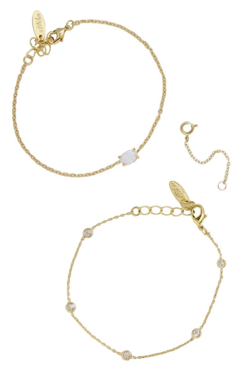 ETTIKA Set of 2 Bracelets, Main, color, 710