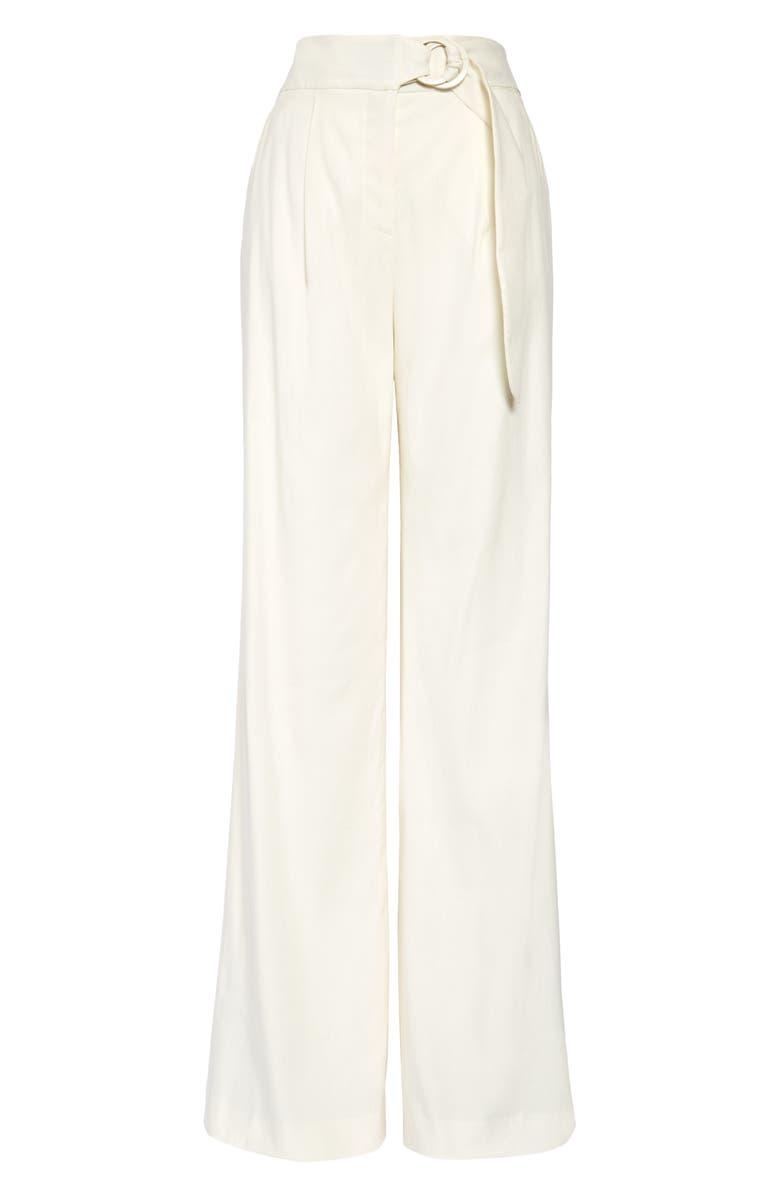 VERONICA BEARD Woode Belted Linen Blend Wide Leg Pants, Main, color, 900