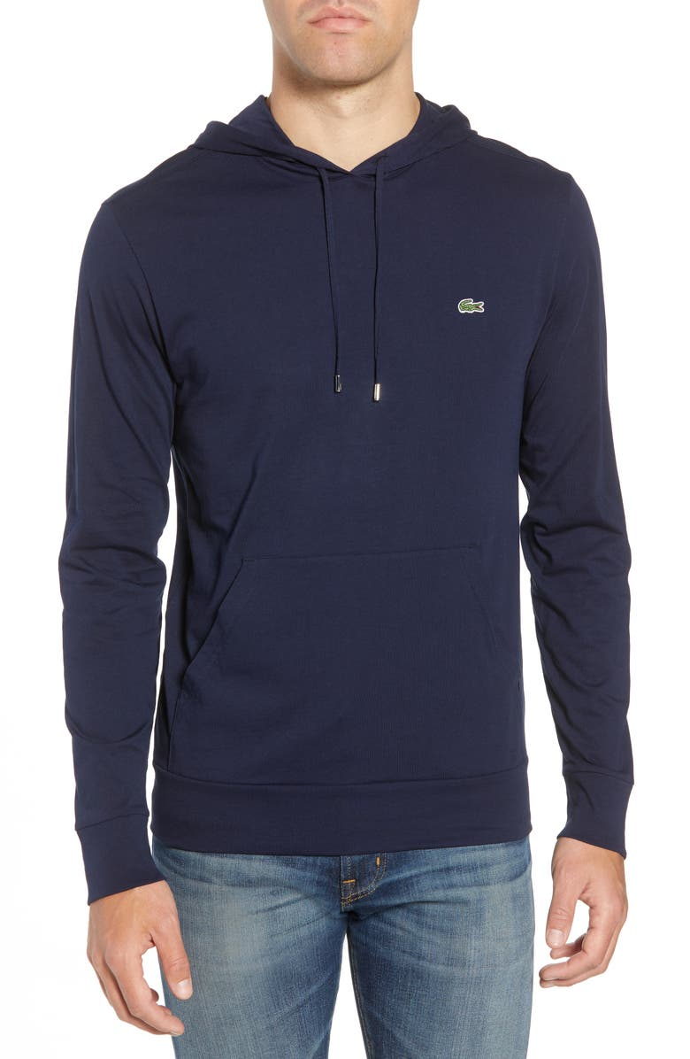 LACOSTE Pullover Hoodie, Main, color, NAVY BLUE