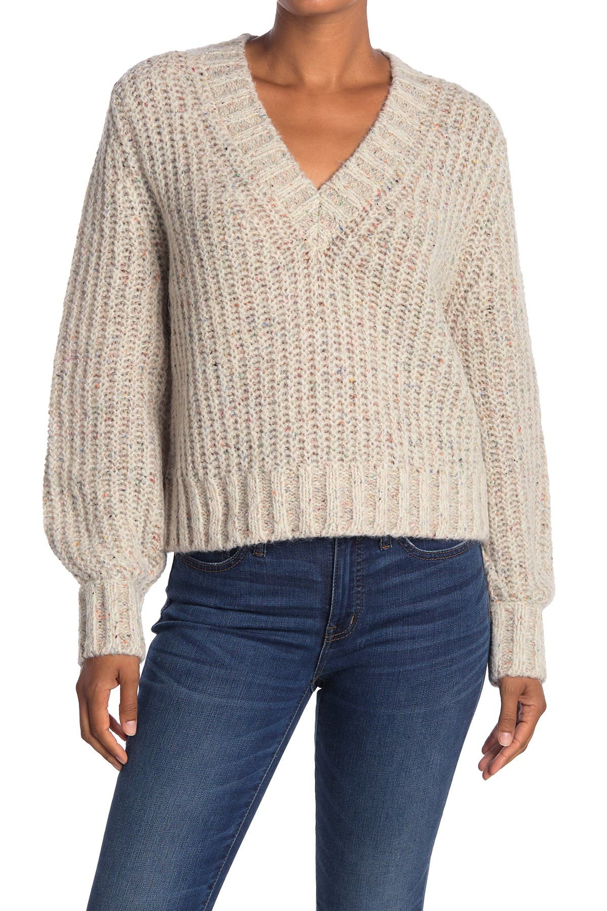 Image of 360 Cashmere Nimm Chunky V-Neck Pullover