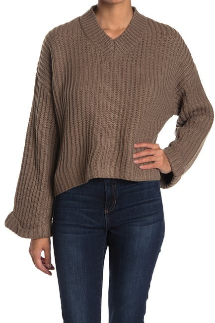 Image of RAG SUPPLY V-Neck Dolman Sleeve Pullover Sweater