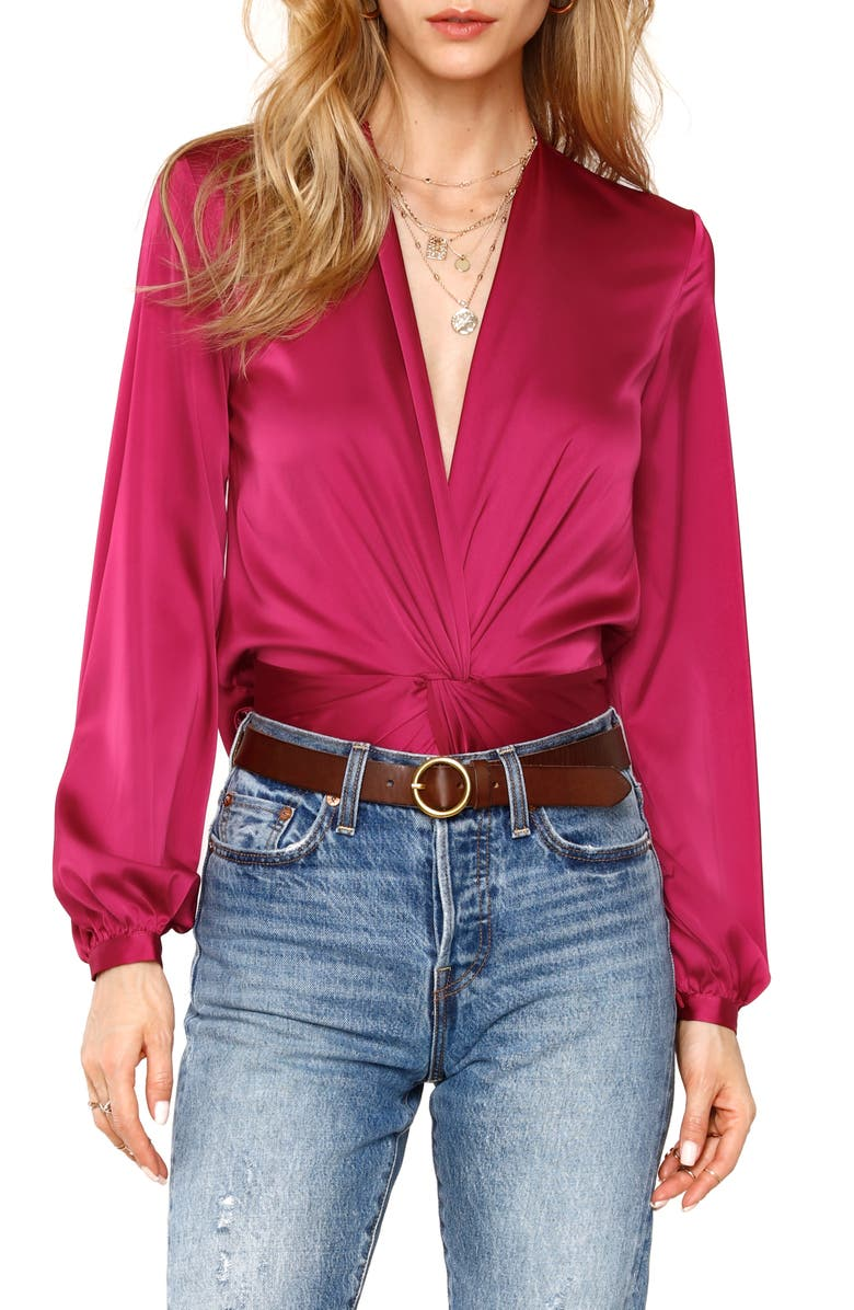 HEARTLOOM Shera Twist Front Top, Main, color, ORCHID