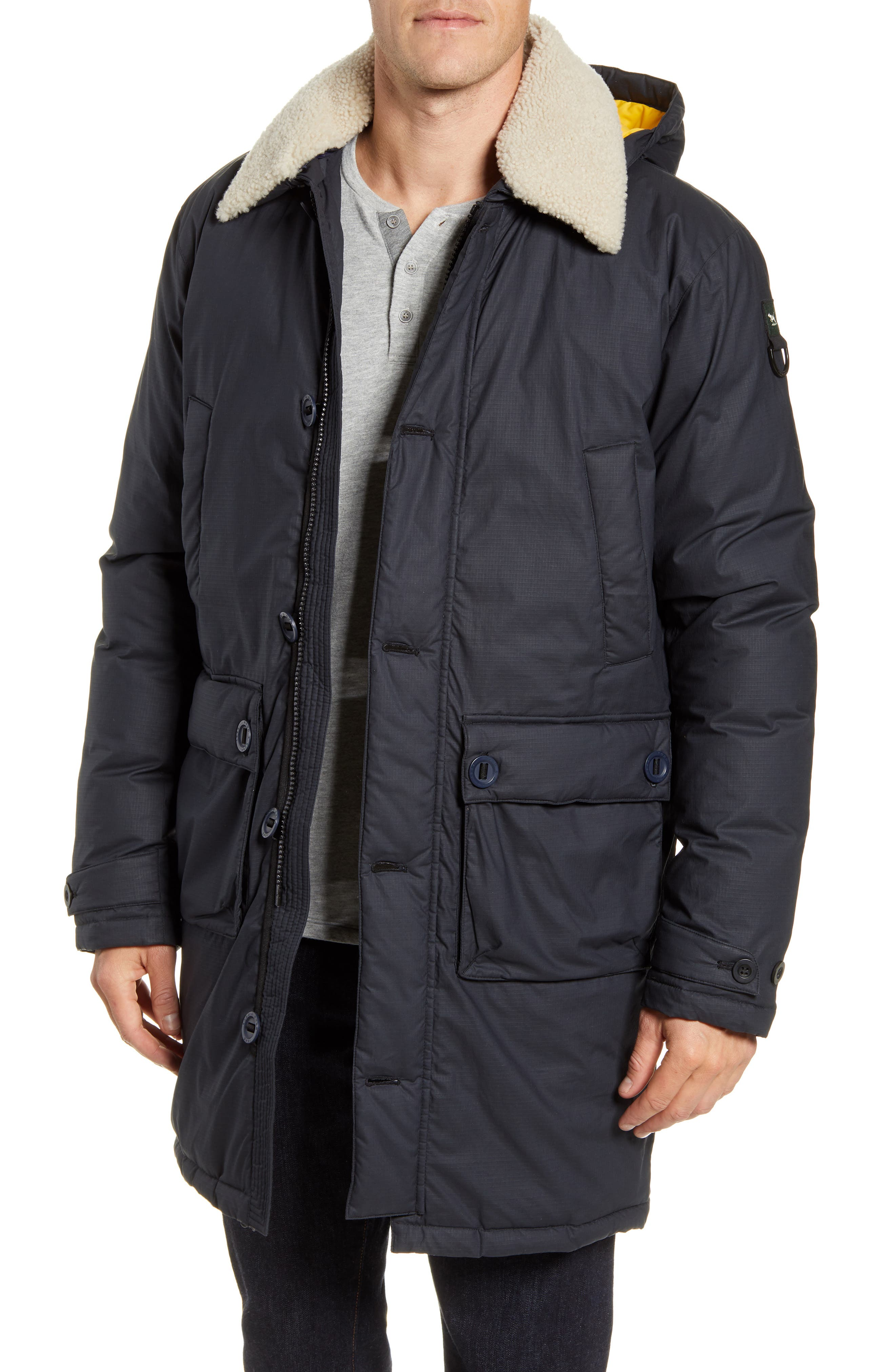 RODD AND GUNN Queenstown Genuine Shearling Trim Down Jacket at Nordstrom Rack