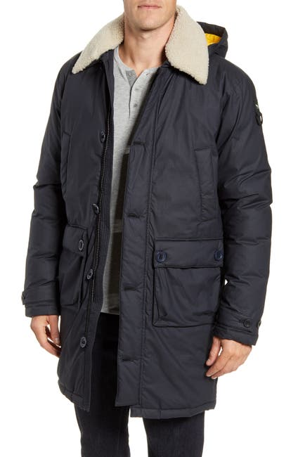 Image of RODD AND GUNN Queenstown Genuine Shearling Trim Down Jacket