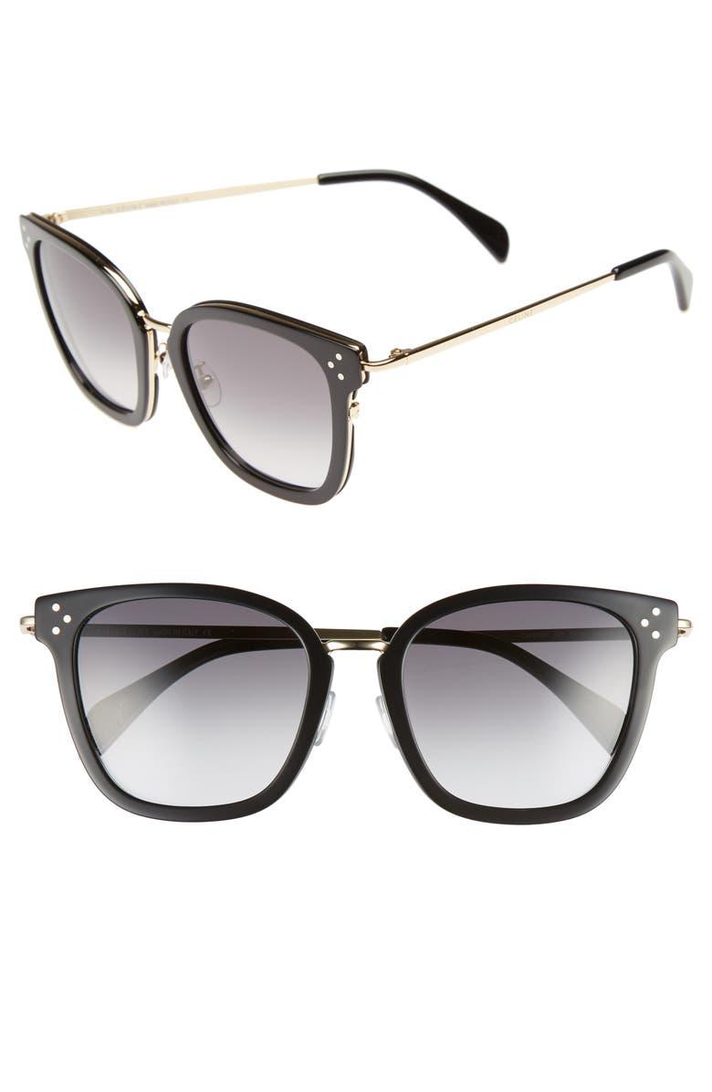 CELINE Special Fit 54mm Sunglasses, Main, color, 012