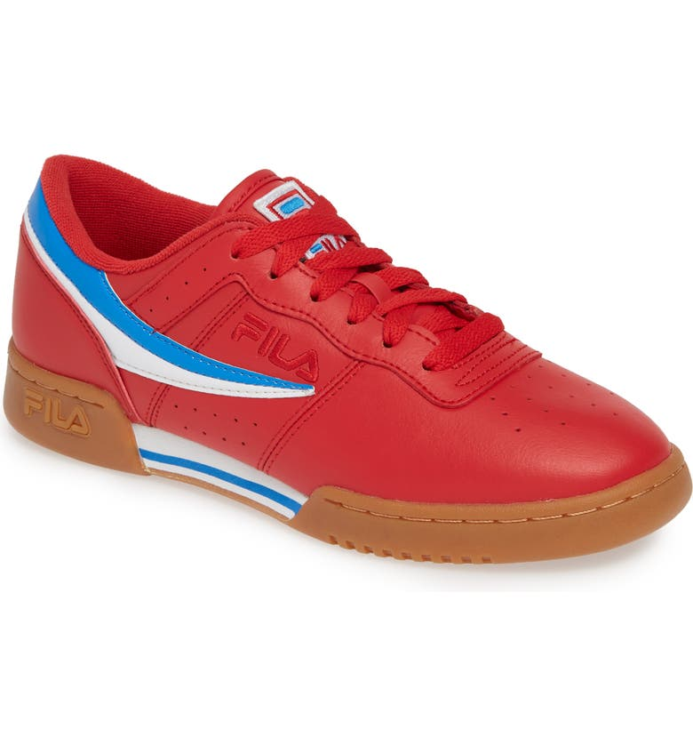 FILA Original Fitness Sneaker, Main, color, RED/ WHITE