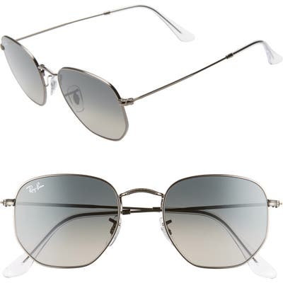Ray-Ban 51Mm Aviator Sunglasses - Gunmetal/ Grey Gradient
