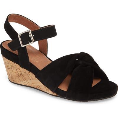 Sudini Casoria Wedge Sandal- Black