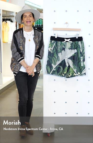 Just Do It Floral Drawstring Shorts, sales video thumbnail