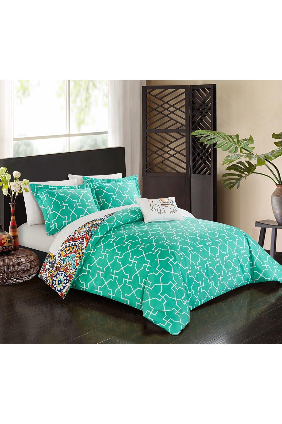 Chic Home Bedding Queen Max Reversible Boho Bed In A Bag Comforter Set Aqua Nordstrom Rack