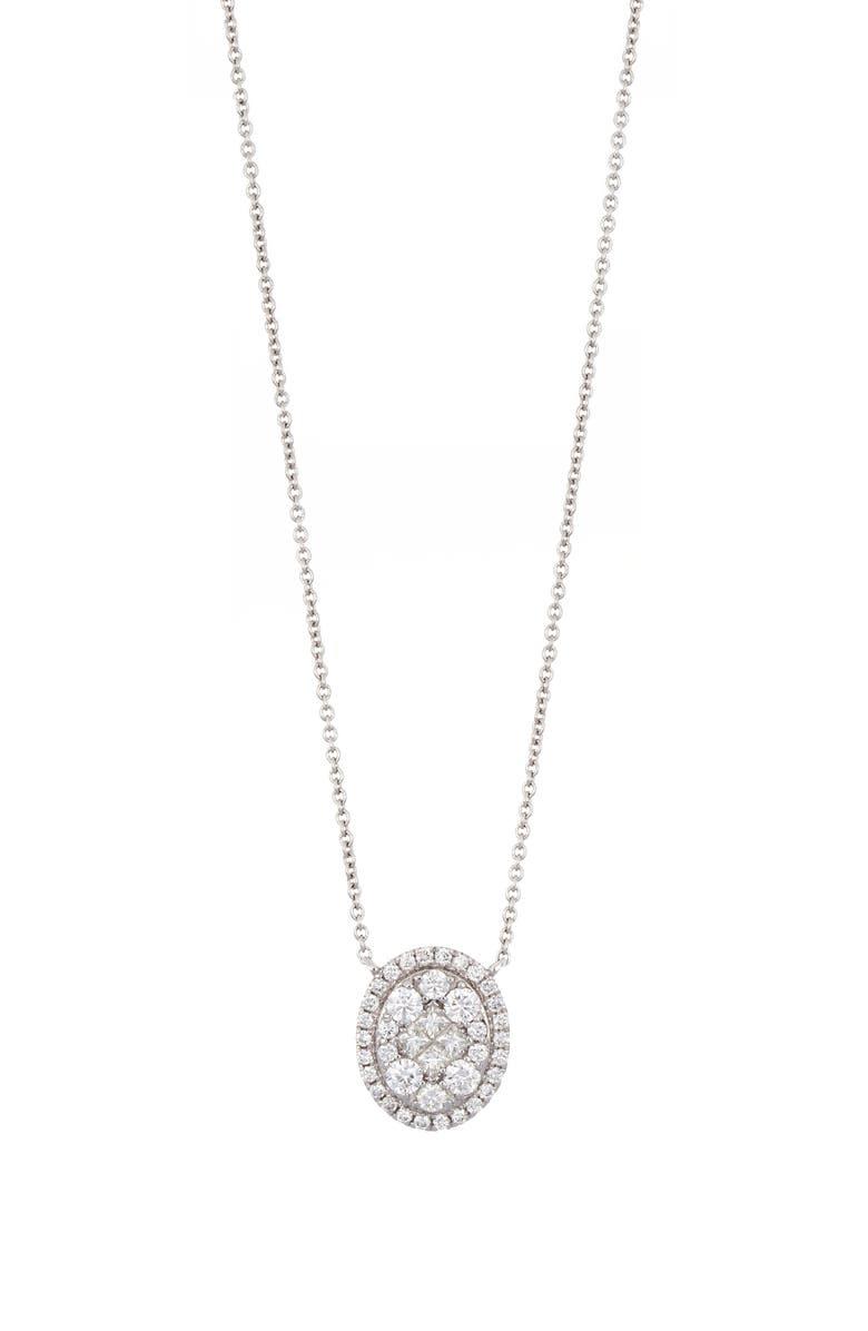 BONY LEVY Mika Diamond Oval Pendant Necklace, Main, color, 711
