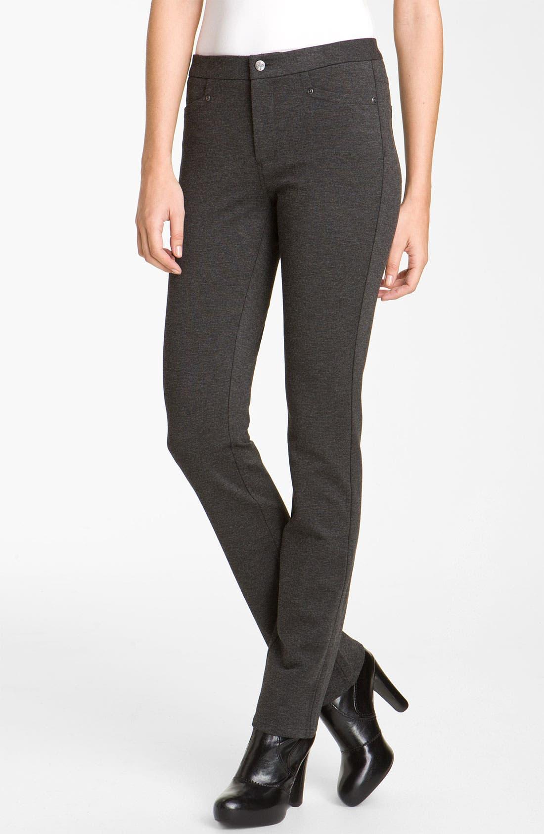 ,                             'Samantha' Stretch Ponte Knit Pants,                             Main thumbnail 3, color,                             020