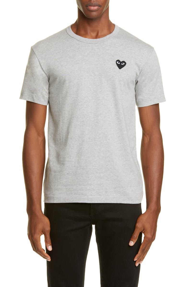 COMME DES GARÇONS PLAY Cotton Crewneck T-Shirt, Main, color, GREY