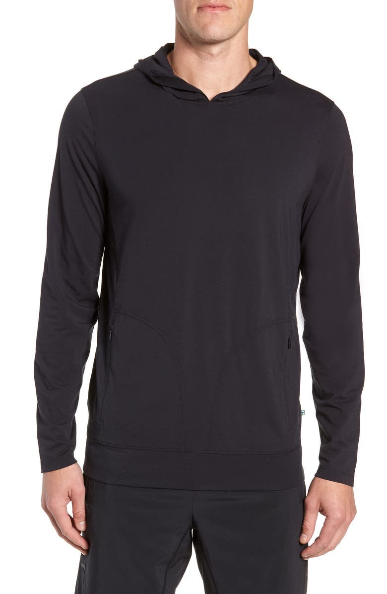 TOMMY JOHN Go Anywhere Hoodie, Main, color, BLACK