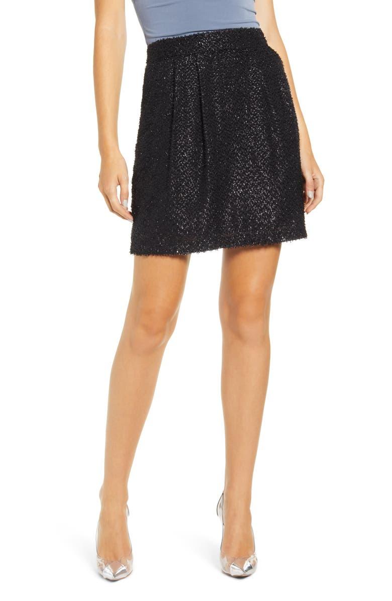 VERO MODA Isolda Skirt, Main, color, BLACK