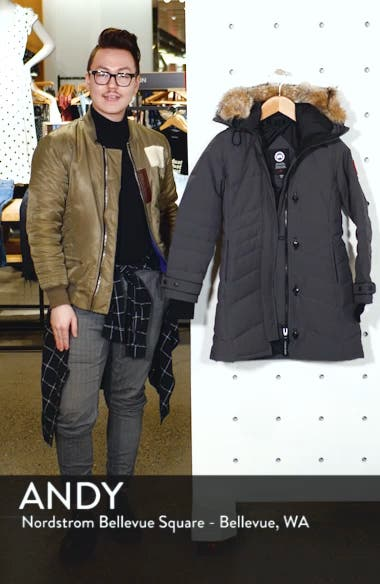 Lorette Fusion Fit Hooded Down Parka with Genuine Coyote Fur Trim, sales video thumbnail