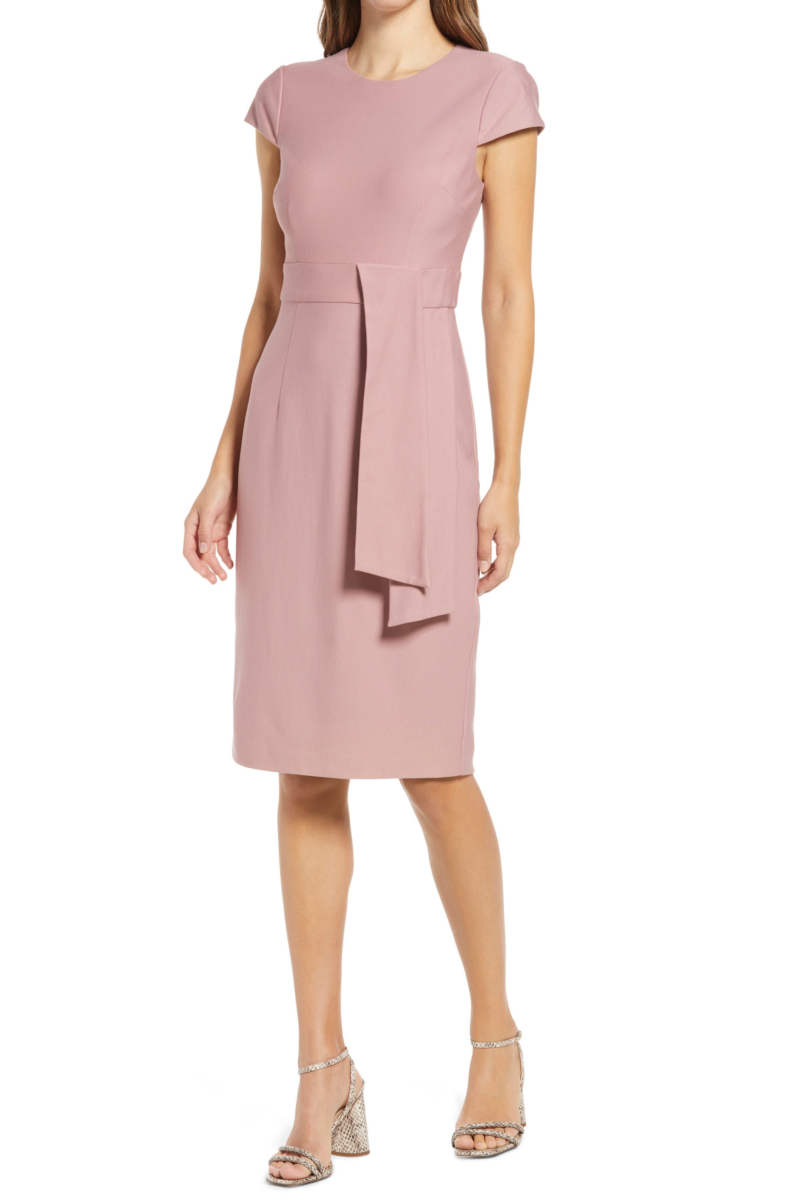 Sash Detail Sheath Dress