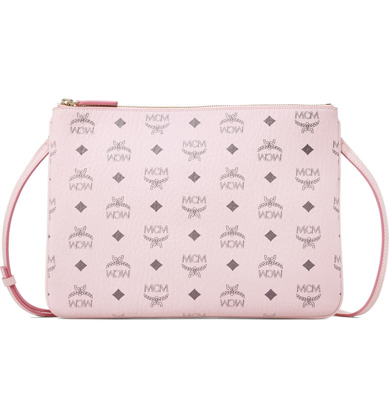 MCM Visetos Original Pouch, Main, color, POWDER PINK