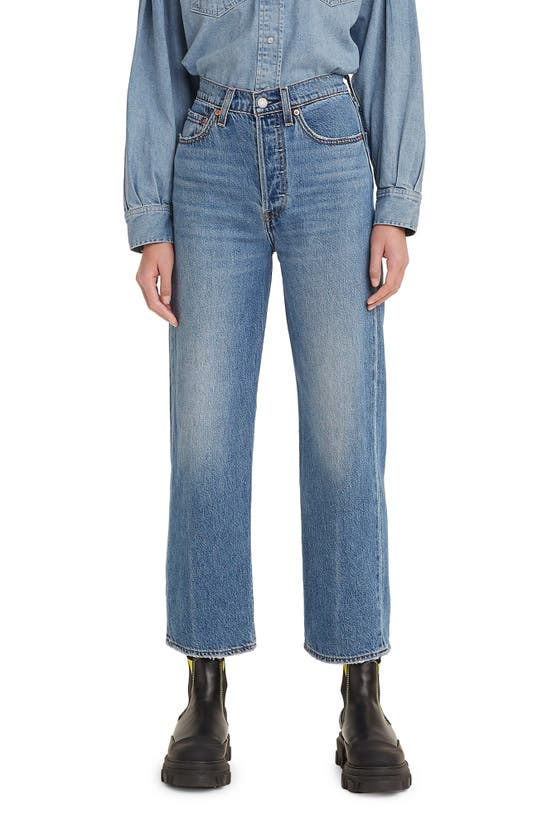Levi's Ribcage High Waist Ankle Straight Leg Jeans In At The Ready