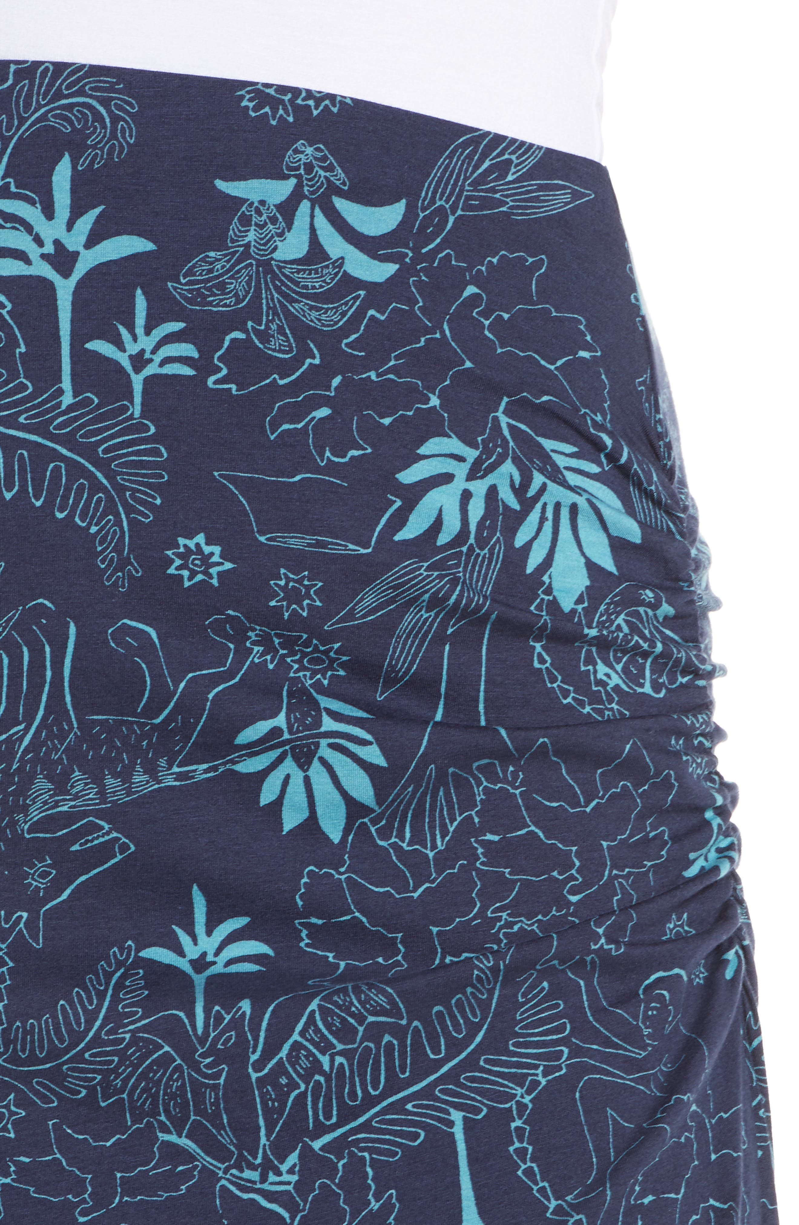 ,                             Dream Song Skirt,                             Alternate thumbnail 5, color,                             BEYOND EXTINCT/ NEO NAVY