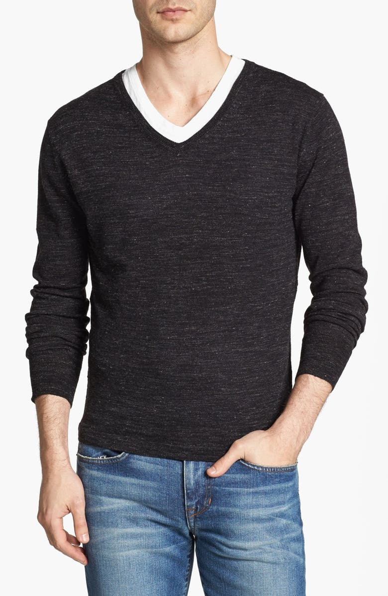 7 DIAMONDS V-Neck Sweater, Main, color, 001