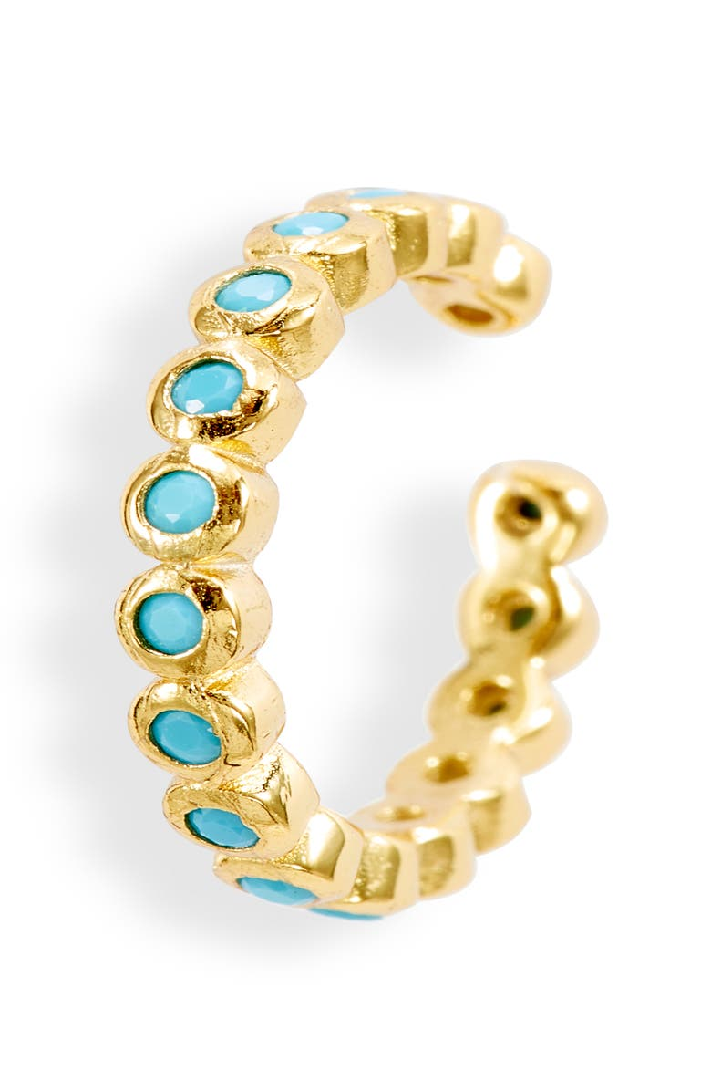 ADINA'S JEWELS Adina's Jewels Bella Ear Cuff, Main, color, TURQUOISE