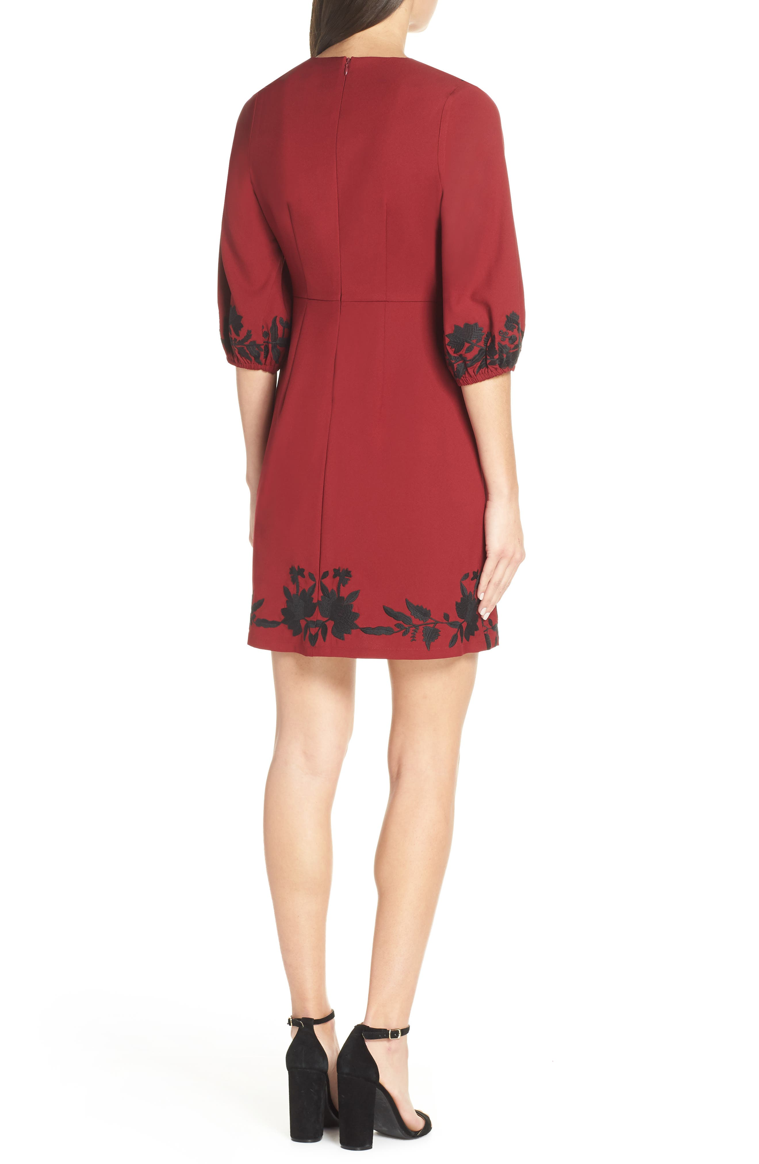 ,                             Melia Embroidered Cocktail Dress,                             Alternate thumbnail 9, color,                             930