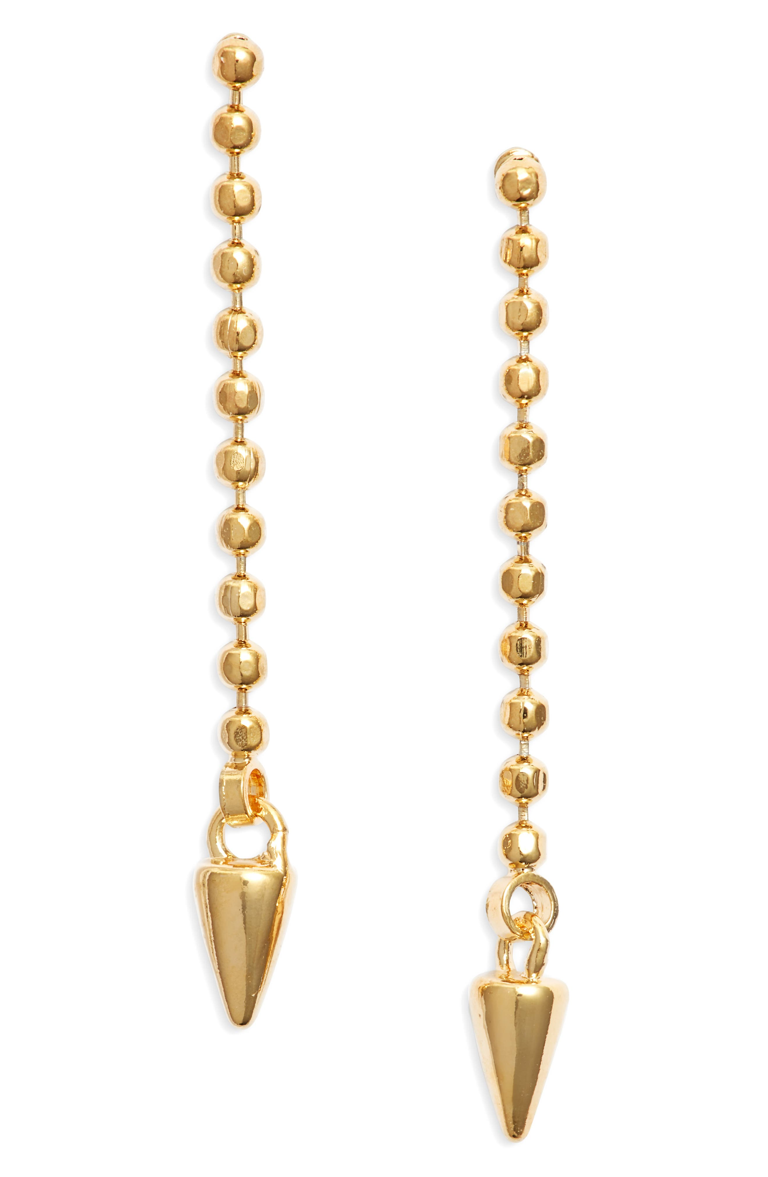 Spike Linear Drop Earrings