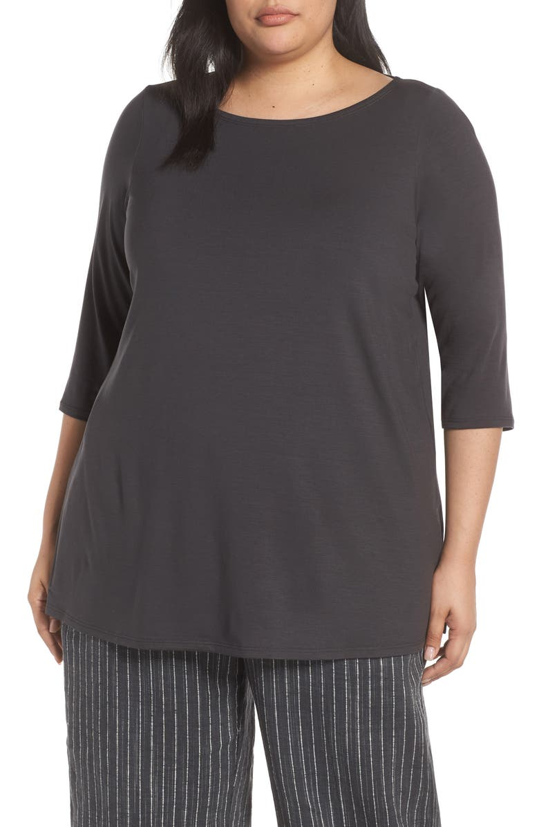 Eileen Fisher Jersey Tunic Plus Size