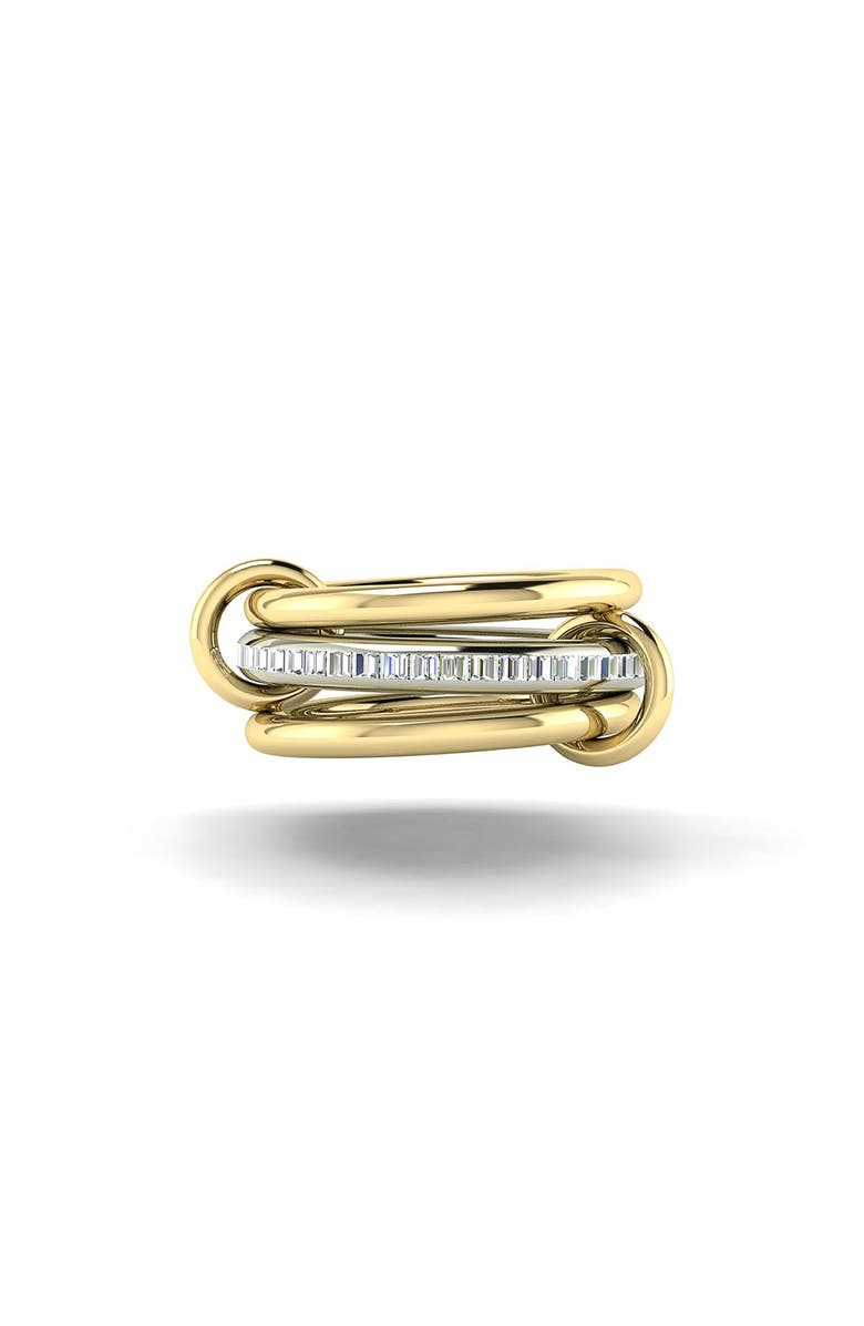 SPINELLI KILCOLLIN Linked Diamond Rings, Main, color, YELLOW GOLD/ WHITE GOLD