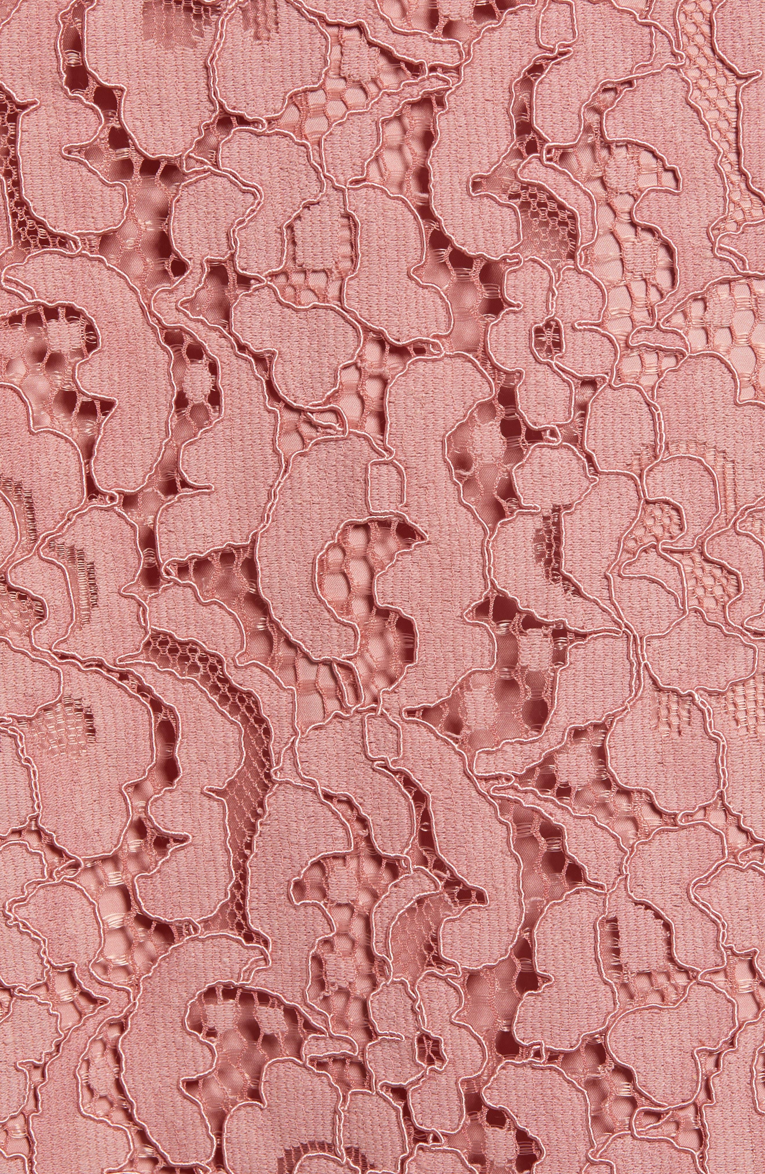 ,                             Lace Pencil Skirt,                             Alternate thumbnail 6, color,                             PINK BEAUTY