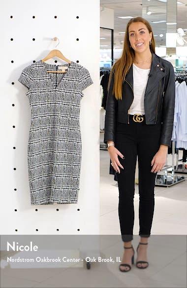Plaid Jacquard Sheath Dress, sales video thumbnail