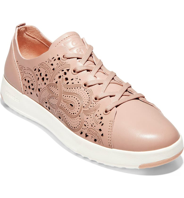COLE HAAN GrandPro Low Top Sneaker, Main, color, MAHOGANY ROSE LEATHER