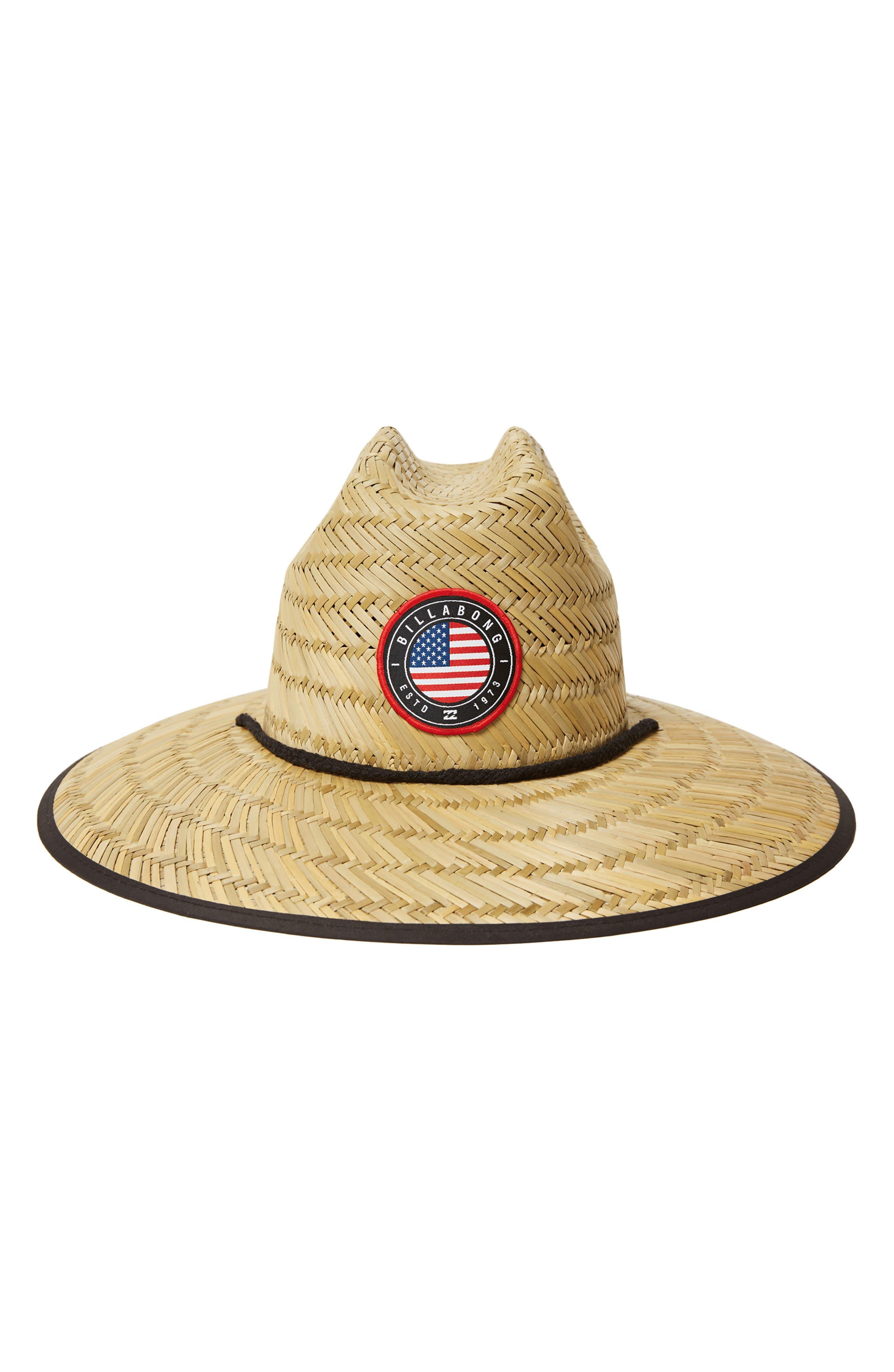 Native Tides Flag Print Straw Hat