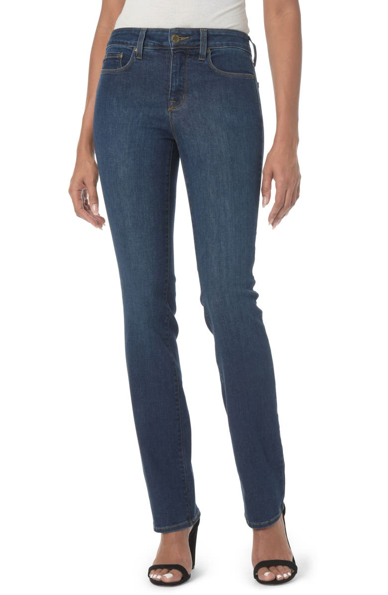 NYDJ Marilyn High Waist Stretch Straight Leg Jeans, Main, color, COOPER