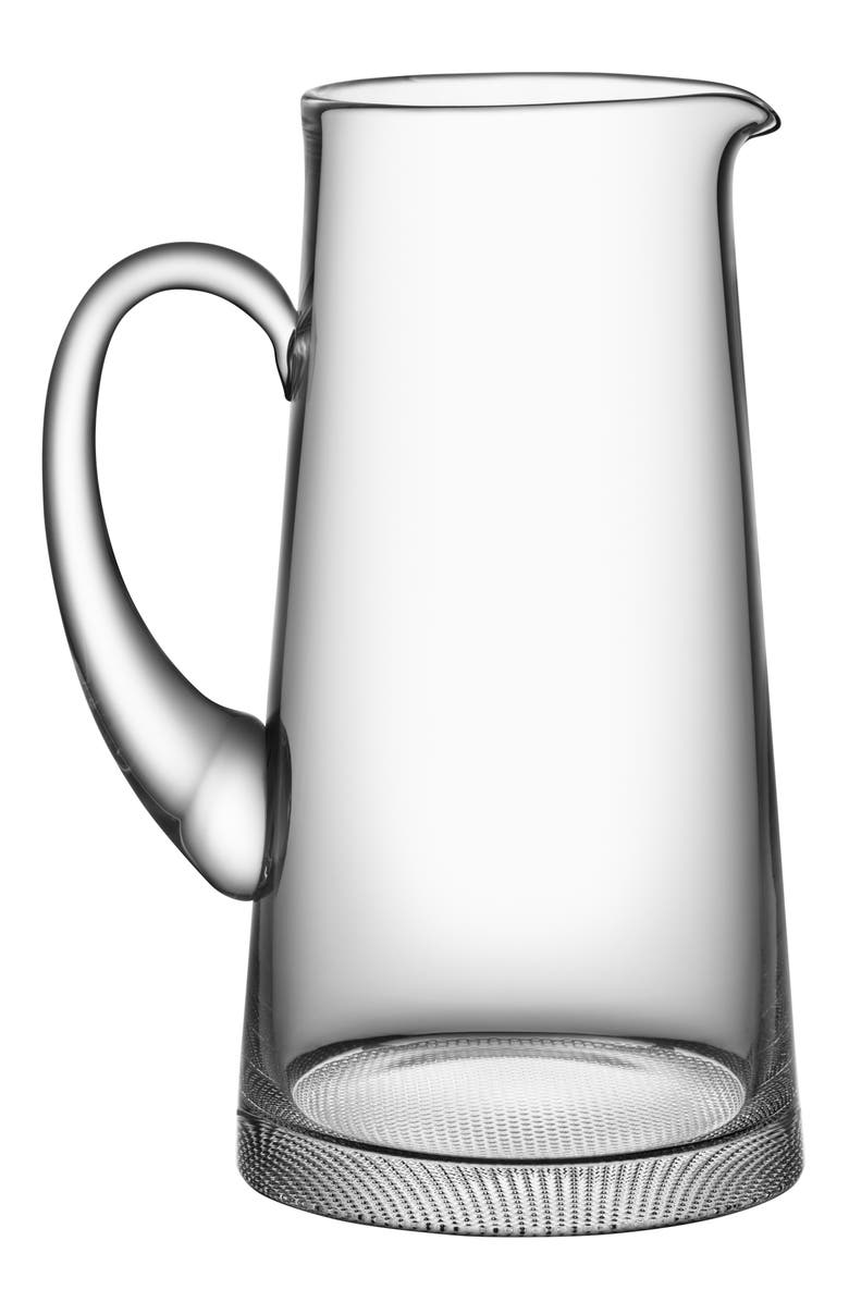 ORREFORS Limelight Lead Crystal Pitcher, Main, color, CLEAR