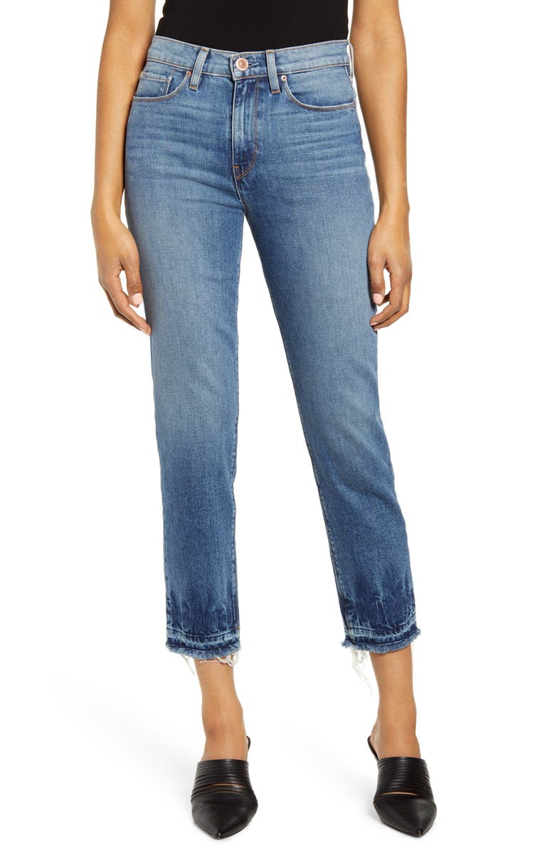 HUDSON JEANS Holly High Waist Release Hem Ankle Straight Jeans, Main, color, 453